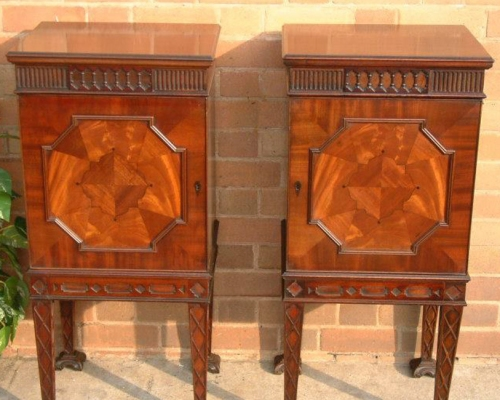 Pair of Mahogany Bedside Cabinets, Maples & Co, Circa 1900